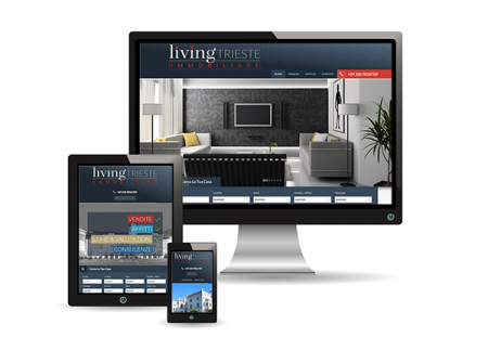 Pubblicità con Living Trieste immobiliare